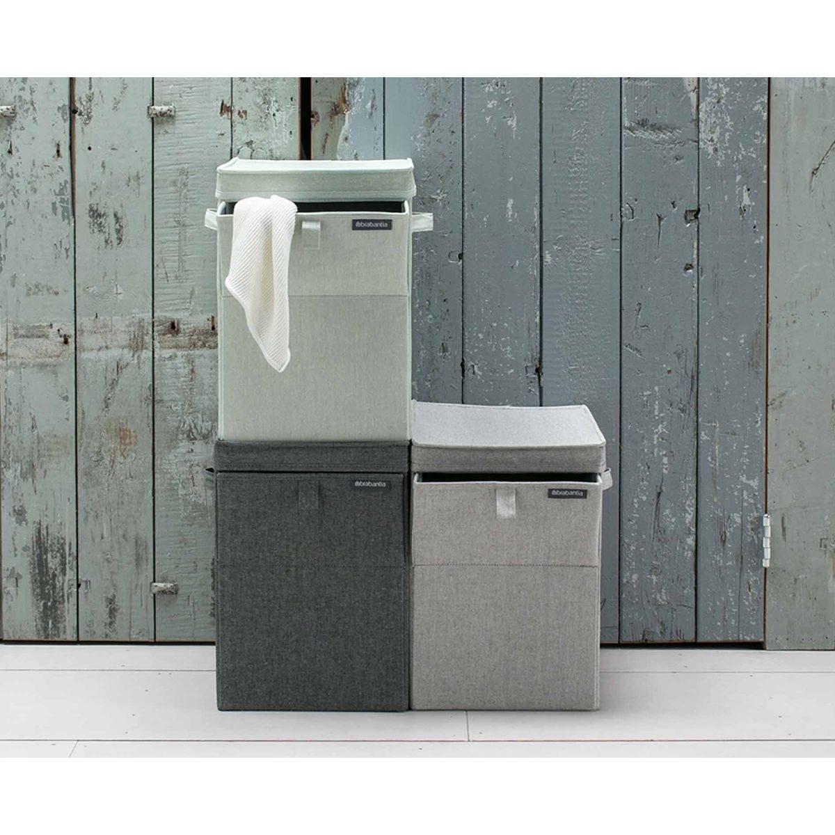 Brabantia Rectangular Laundry Box 35 Litre, Charcoal