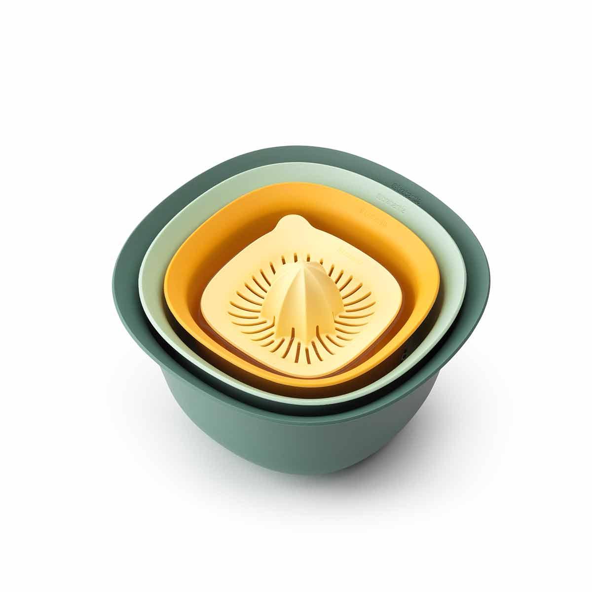 Brabantia Tasty Mixing Bowl Set, Assorted