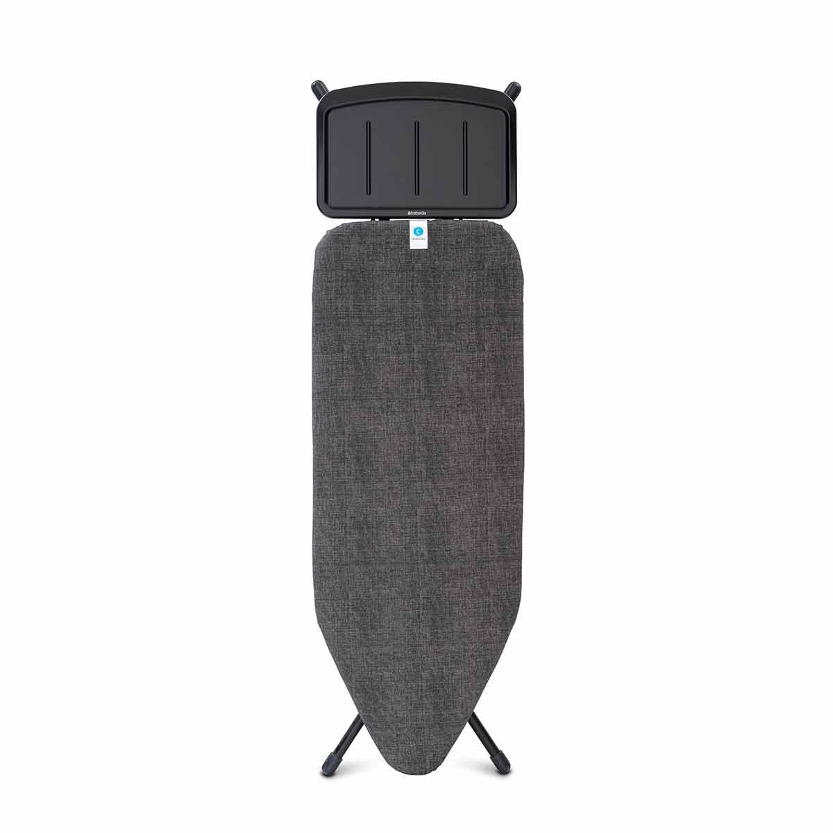 Brabantia Size C Ironing Board with Steam Unit Holder 124x45cm, BlackDenim