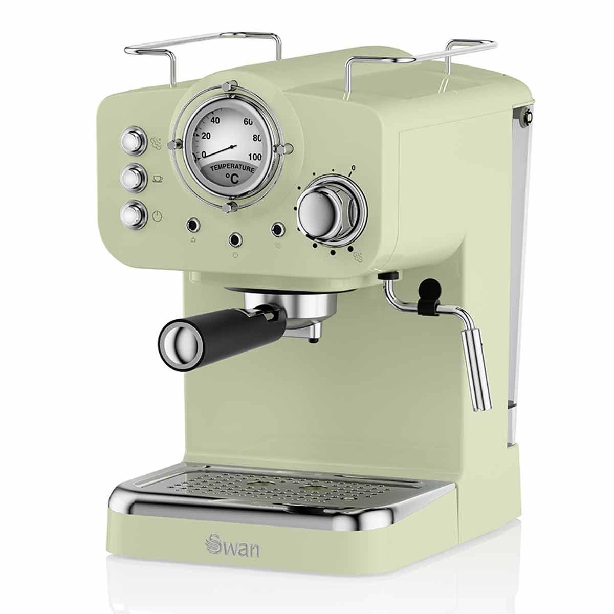Swan Retro Espresso Coffee Machine, Green
