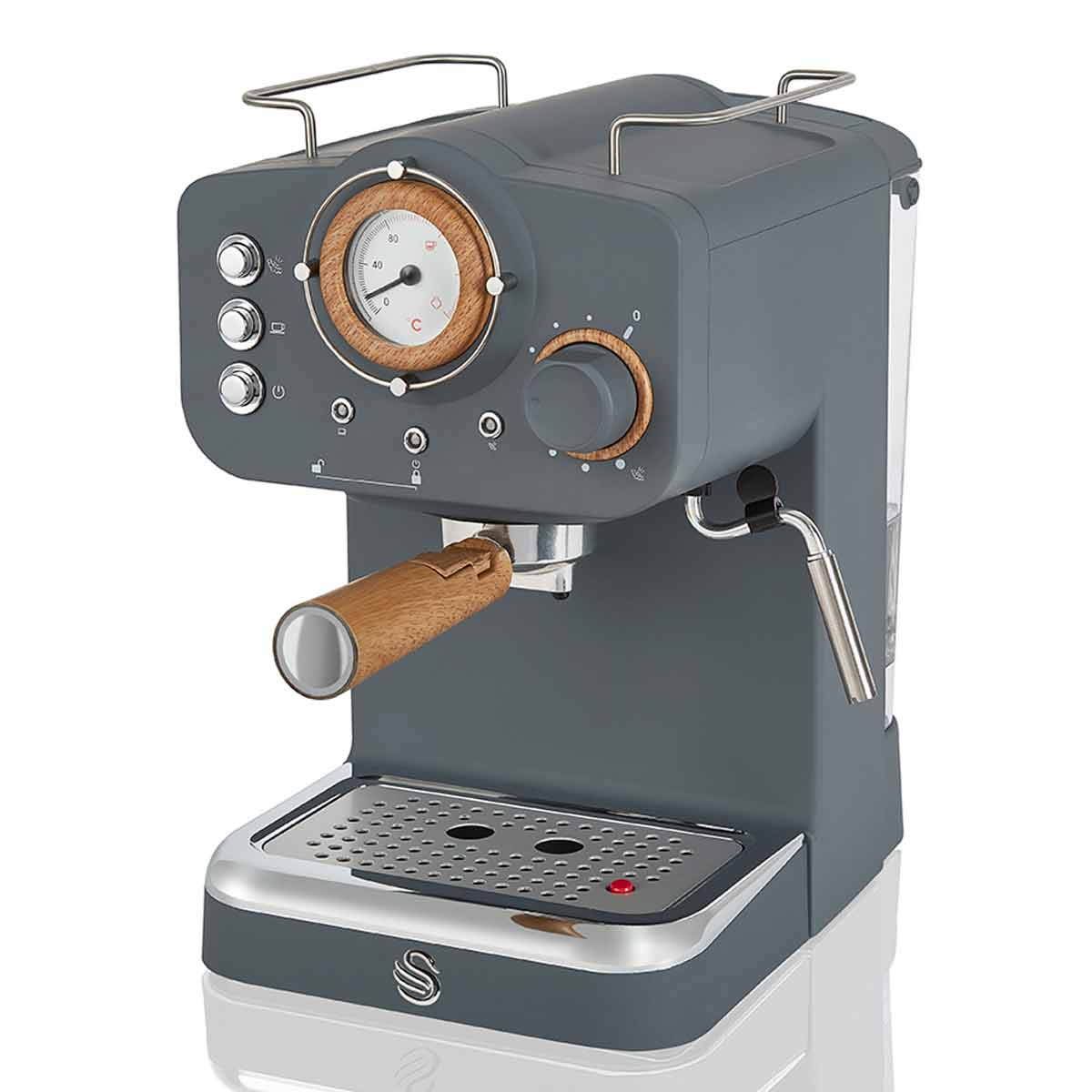 Swan Nordic Espresso Coffee Machine, Grey
