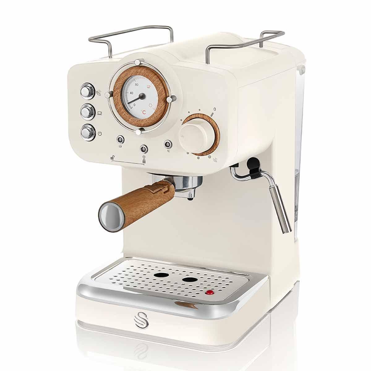 Swan Nordic Espresso Coffee Machine, White