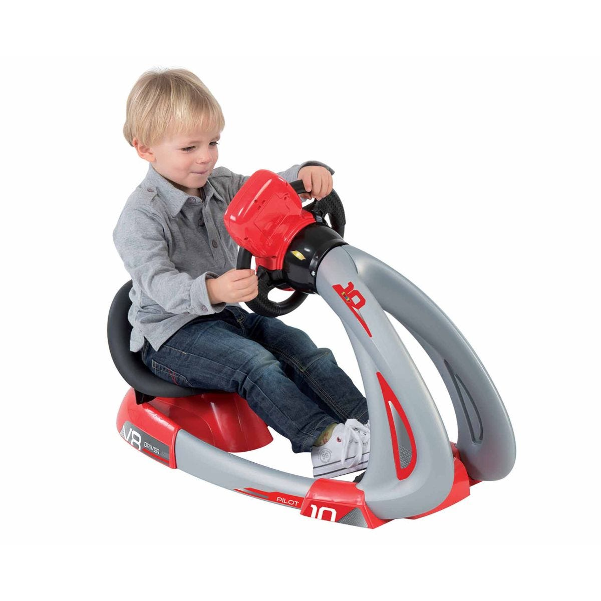 Charles Bentley Smoby Kids Driving Simulator Car, Red