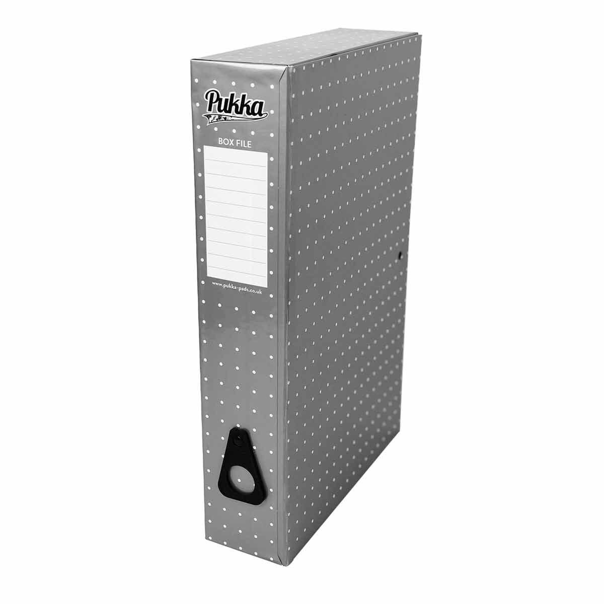 Pukka Metallic Foolscap Box File Metallic Silver