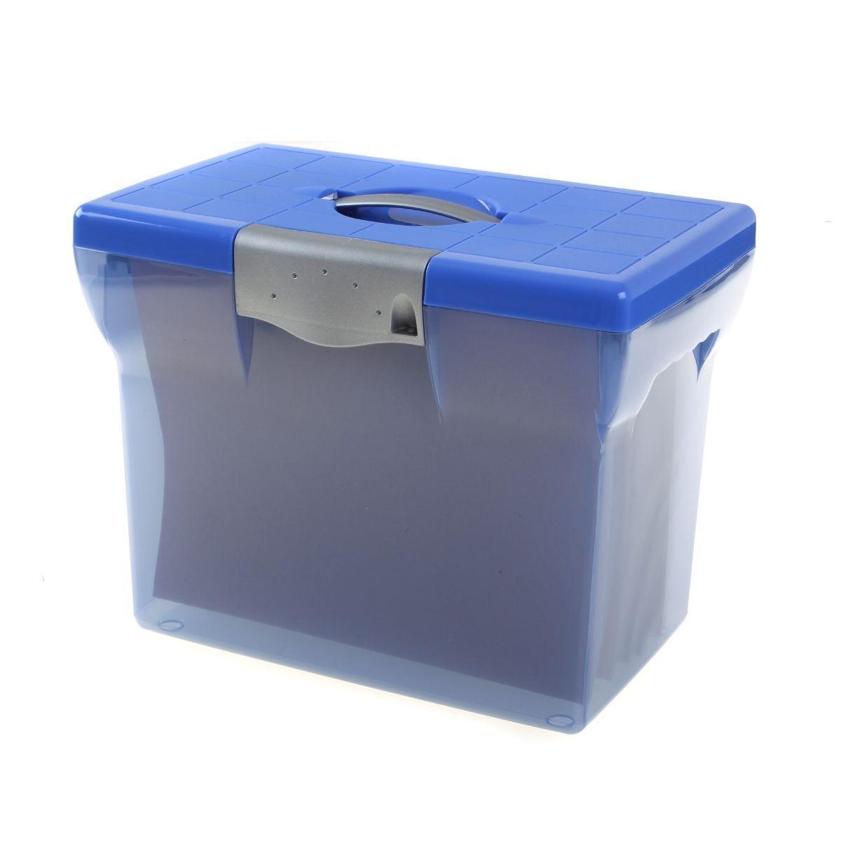 Pierre Henry File Box A4 + 5 Suspension Files Blue
