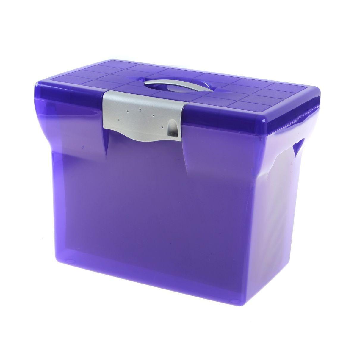 Pierre Henry File Box A4 + 5 Suspension Files Purple