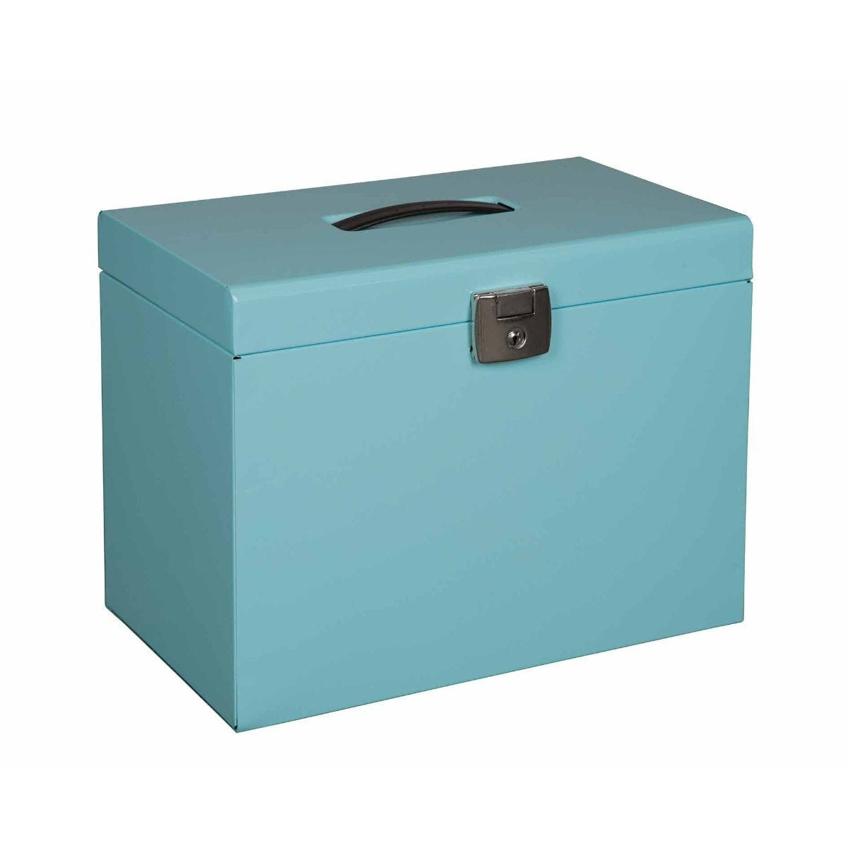 Pierre Henry Metal File Box A4 and 5 Suspension Files Ice Blue