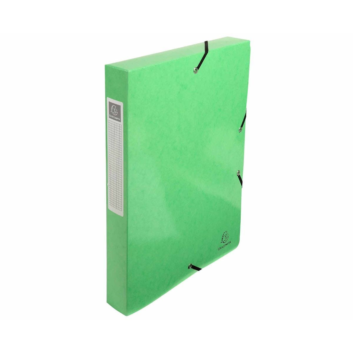 Exacompta Iderama Box File A4 Pack of 8 600gsm Green
