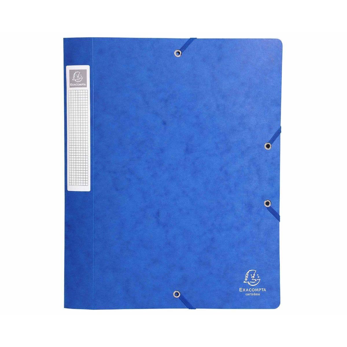 Exacompta Cartobox Box File A4 40mm Pack of 10 Blue