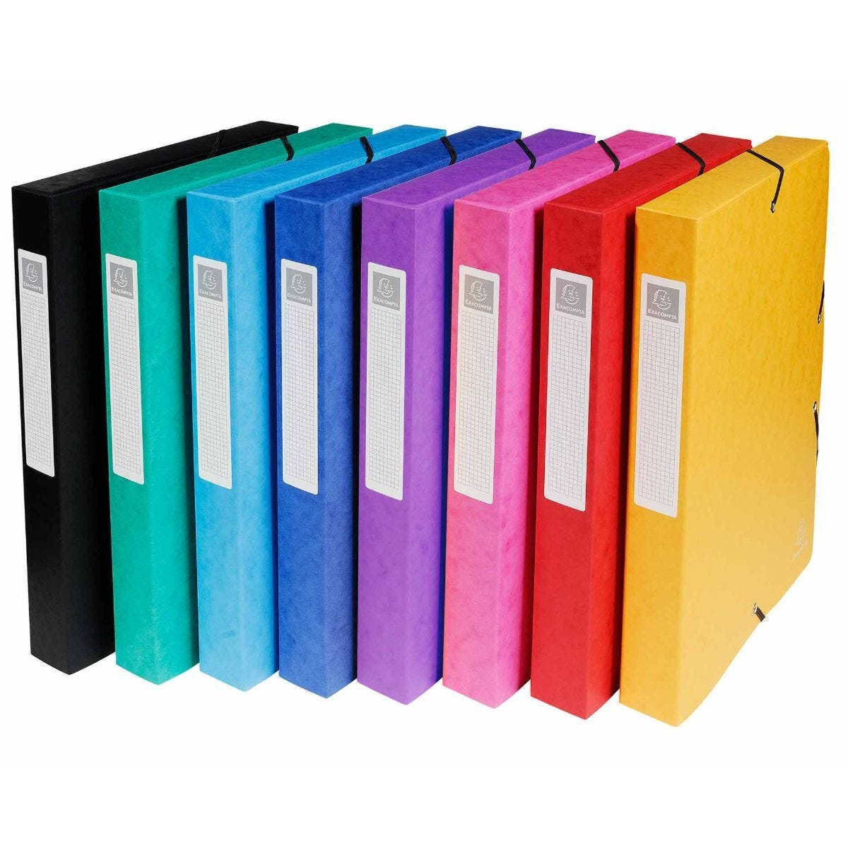 Exacompta Box File A4 40mm Pack of 5 Assorted