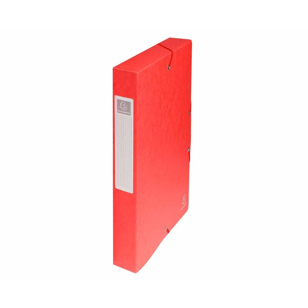 Exacompta Box File A4 40mm Pack of 8 Red