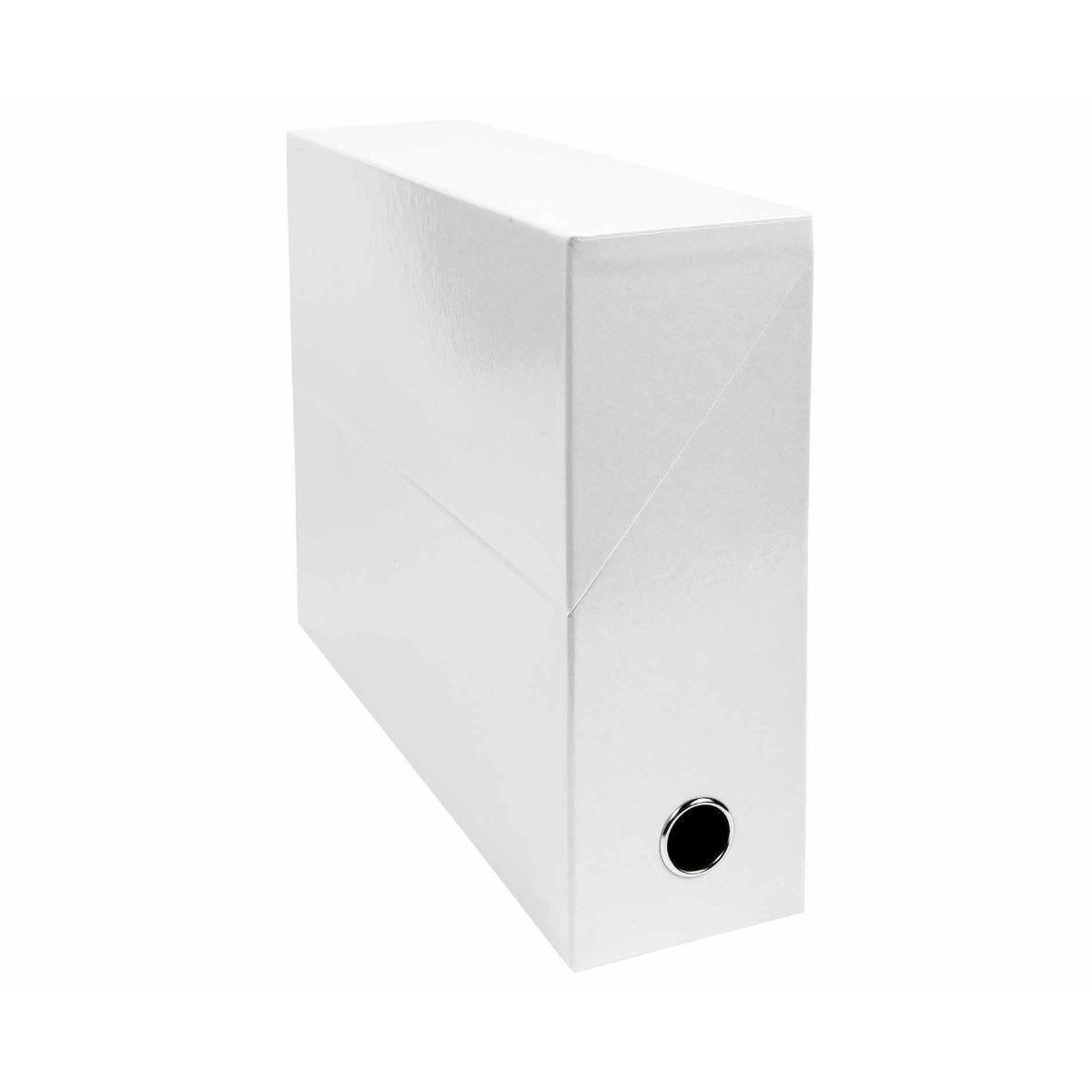 Exacompta Iderama Filing Box 90mm Pack of 5 white