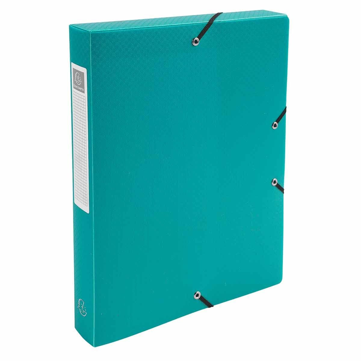 Exacompta Elasticated Polypropylene Box File A4 40mm Pack of 8 Green