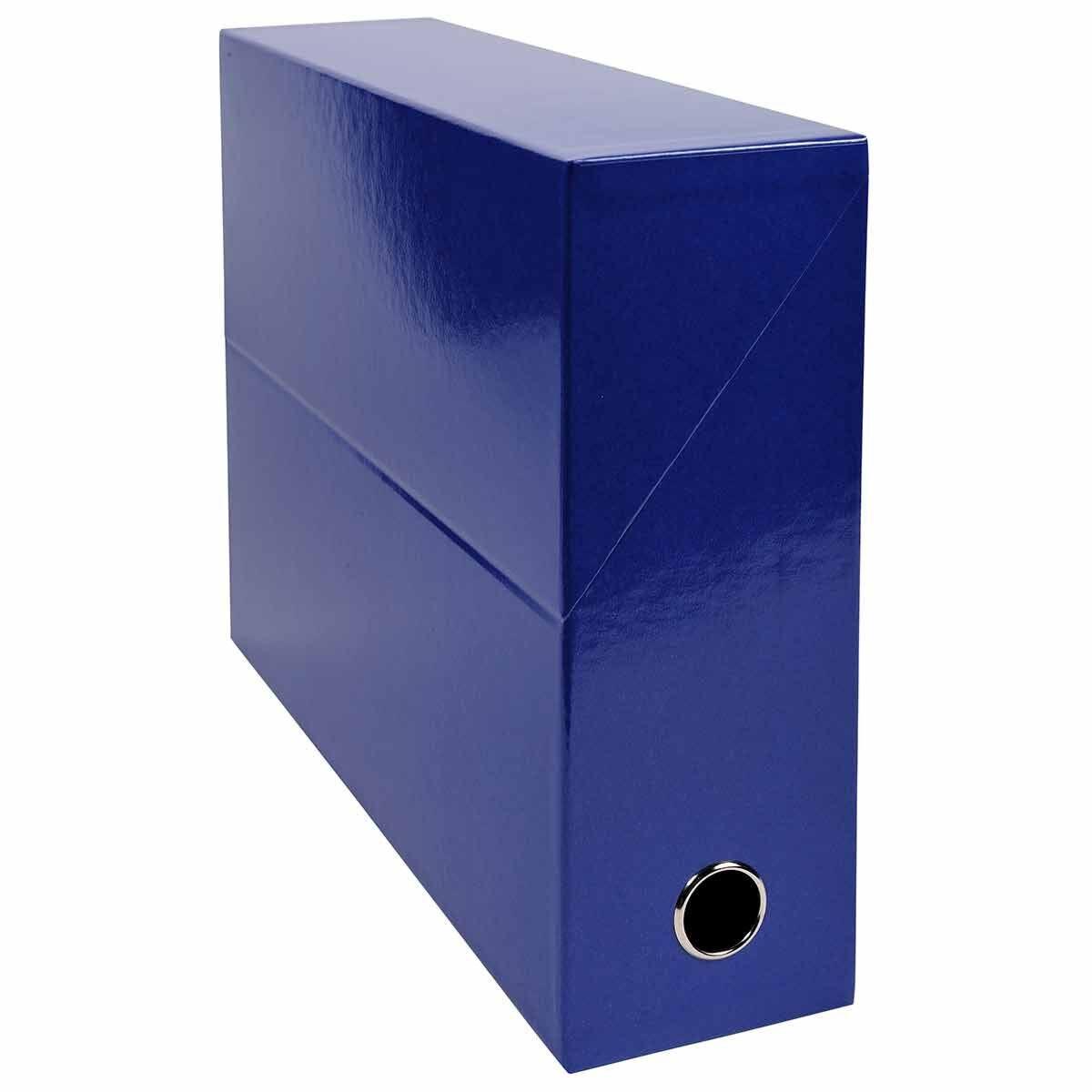 Exacompta Iderama Filing Box 90mm Pack of 5 Dark Blue