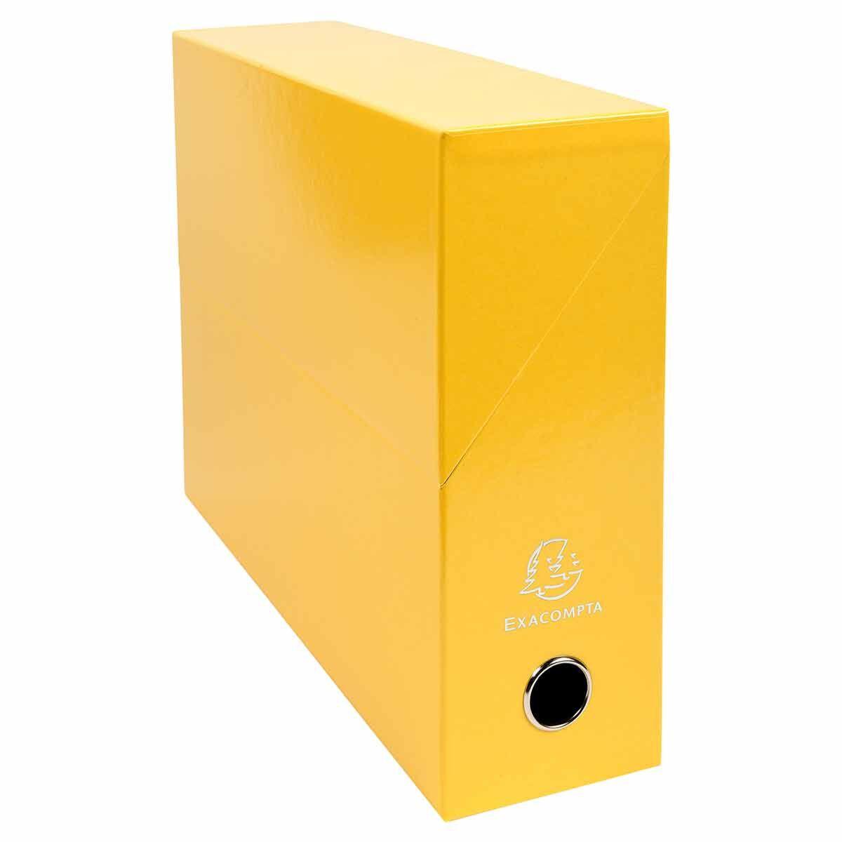 Exacompta Iderama Filing Box 90mm Pack of 5 Yellow