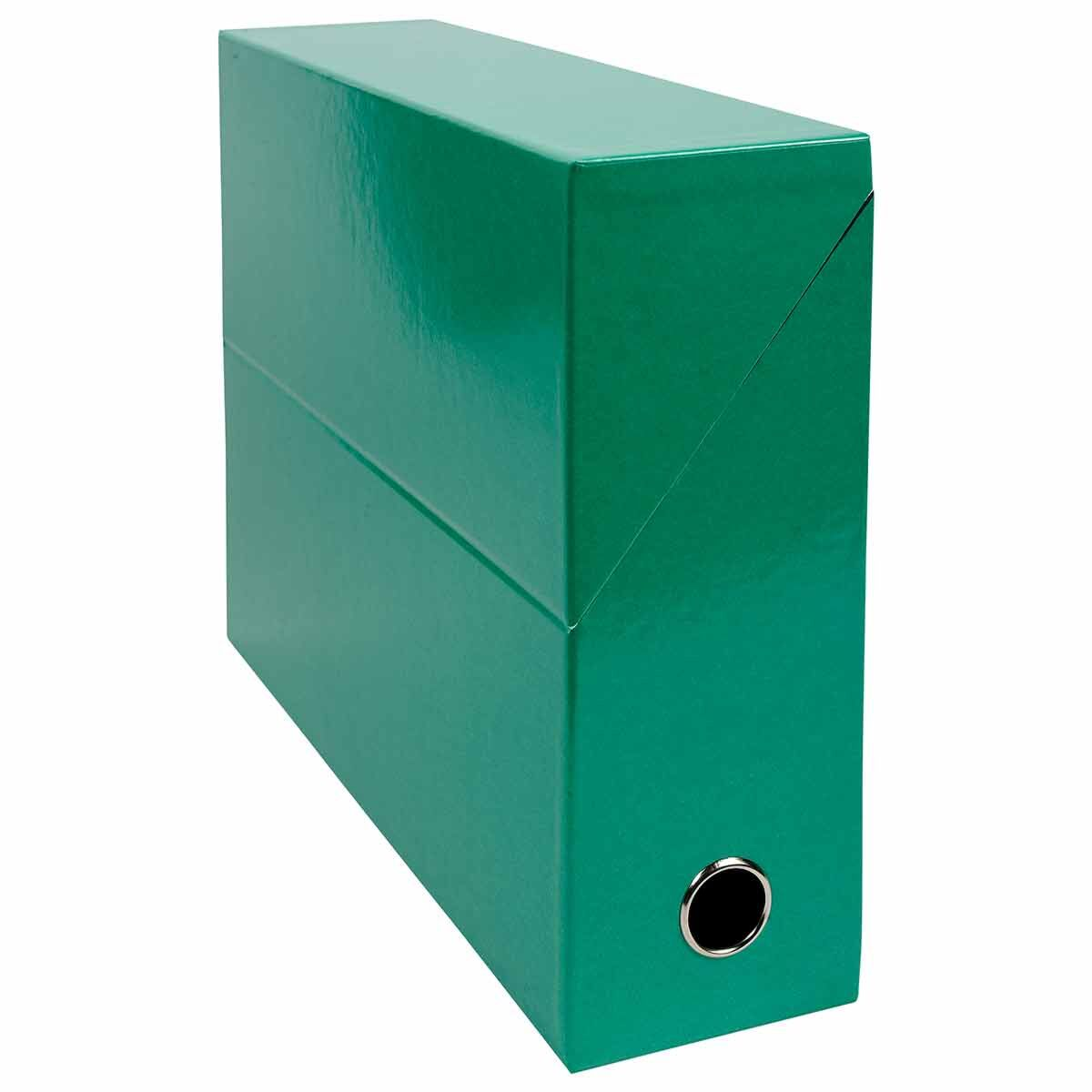 Exacompta Iderama Filing Box 90mm Pack of 5 Dark Green