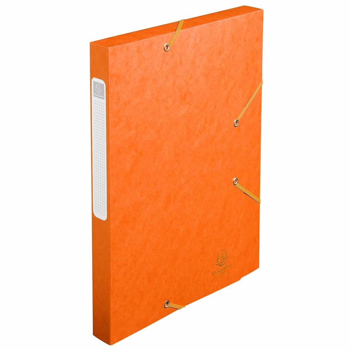 Exacompta Cartobox Box File 25mm 400g A4 Pack of 25 Orange