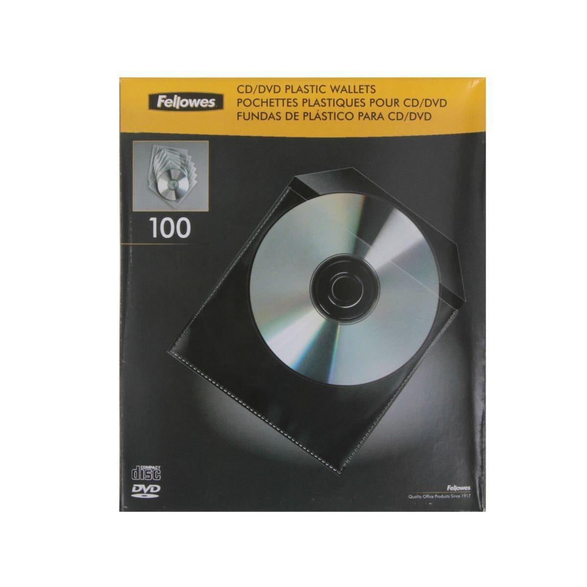 CD Plastic Envelopes 100 Pack