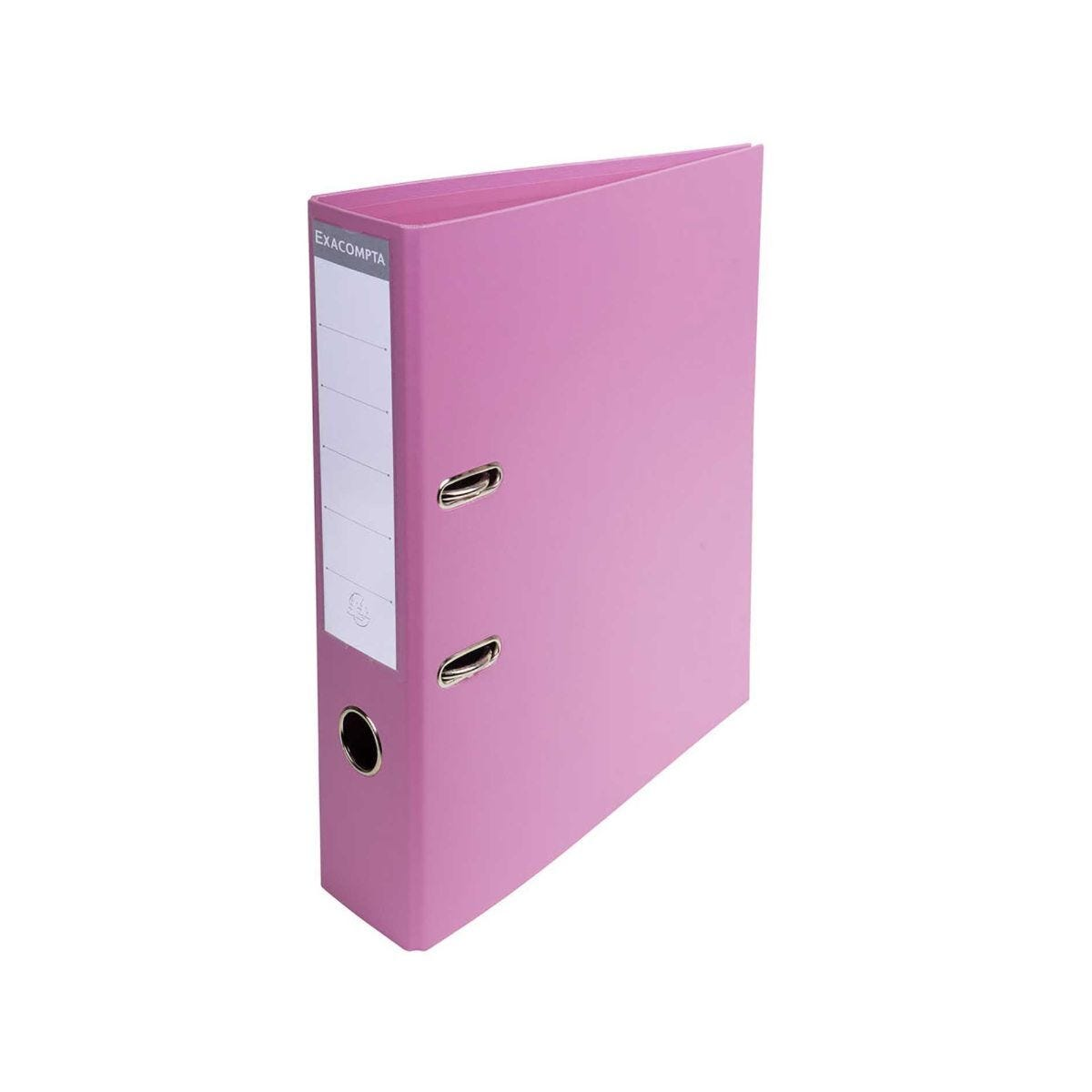 Exacompta Pastel Lever Arch File Pink