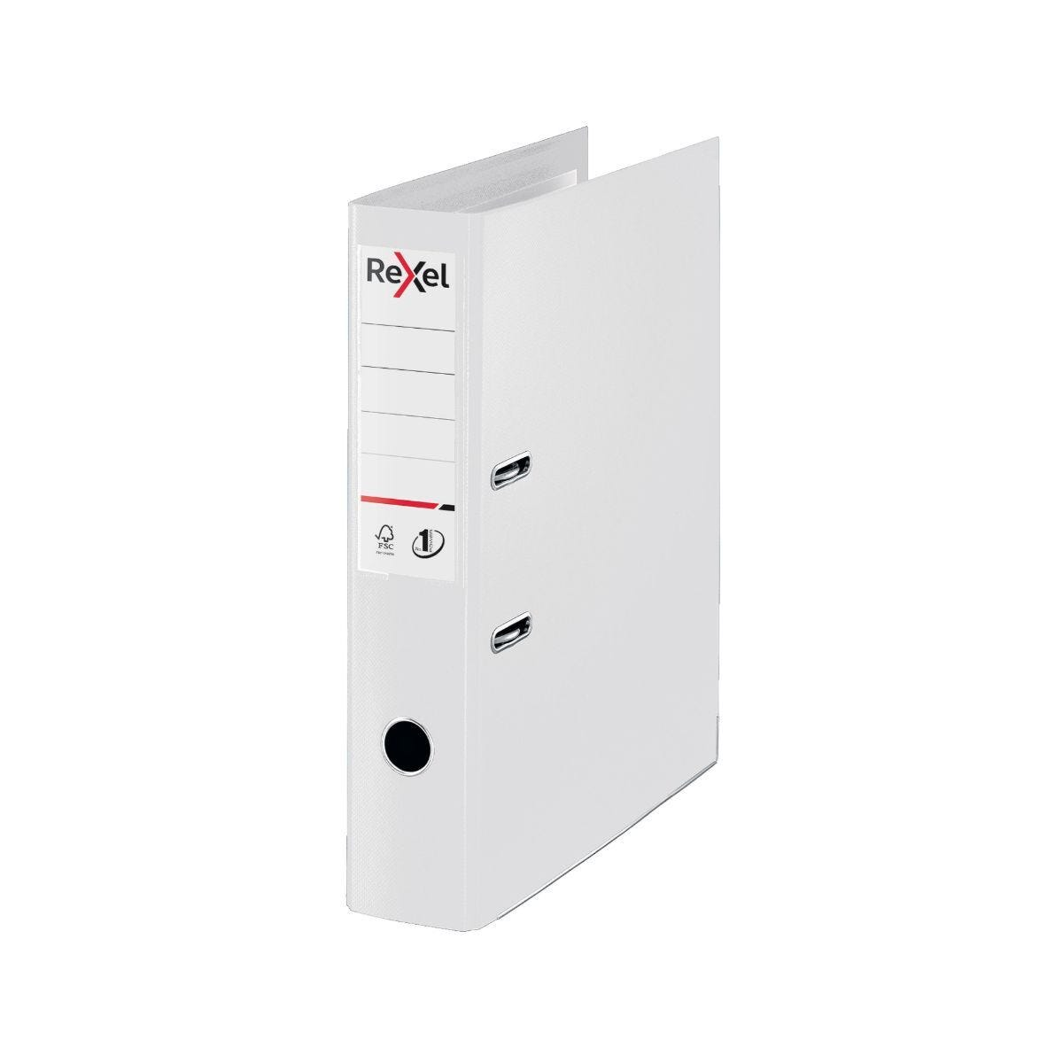 Rexel Choices Lever Arch File Foolscap PP 75mm Pack of 10 White