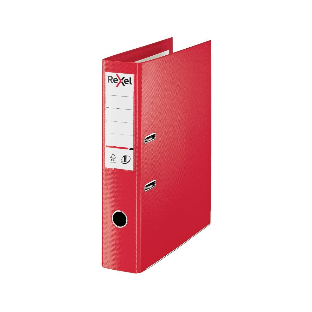 Rexel Choices Lever Arch File Foolscap PP 75mm Pack of 10 Red