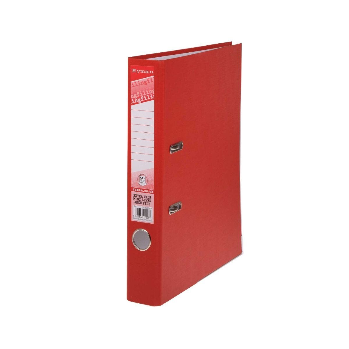 Ryman Mini Lever Arch File A4 Extra Wide Red