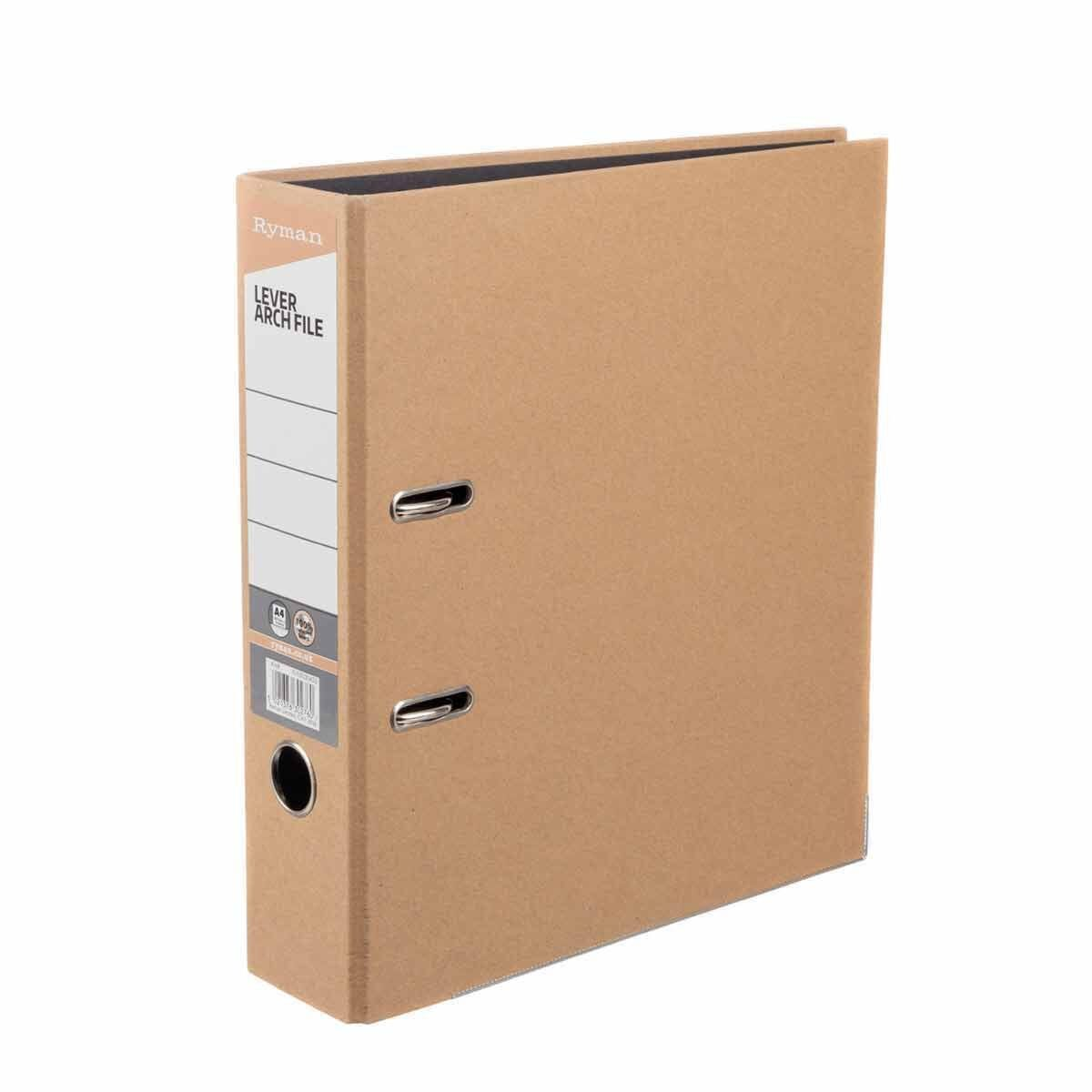 Ryman Kraft Lever Arch File A4 Pack of 10