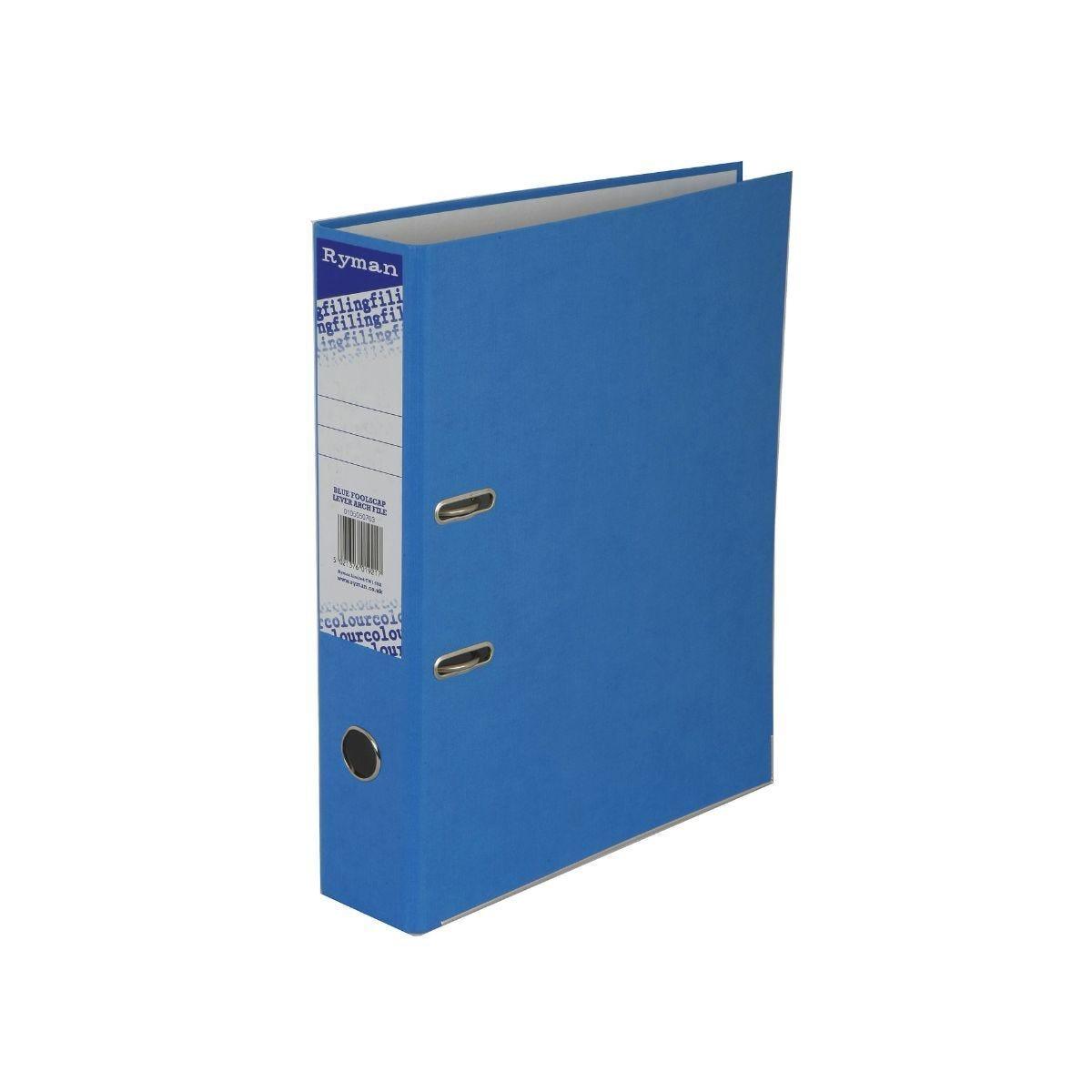Ryman Colour Lever Arch File Foolscap Blue