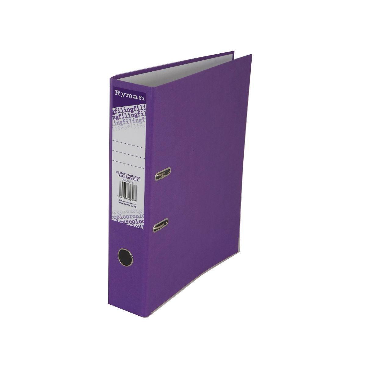 Ryman Colour Lever Arch File Foolscap Purple