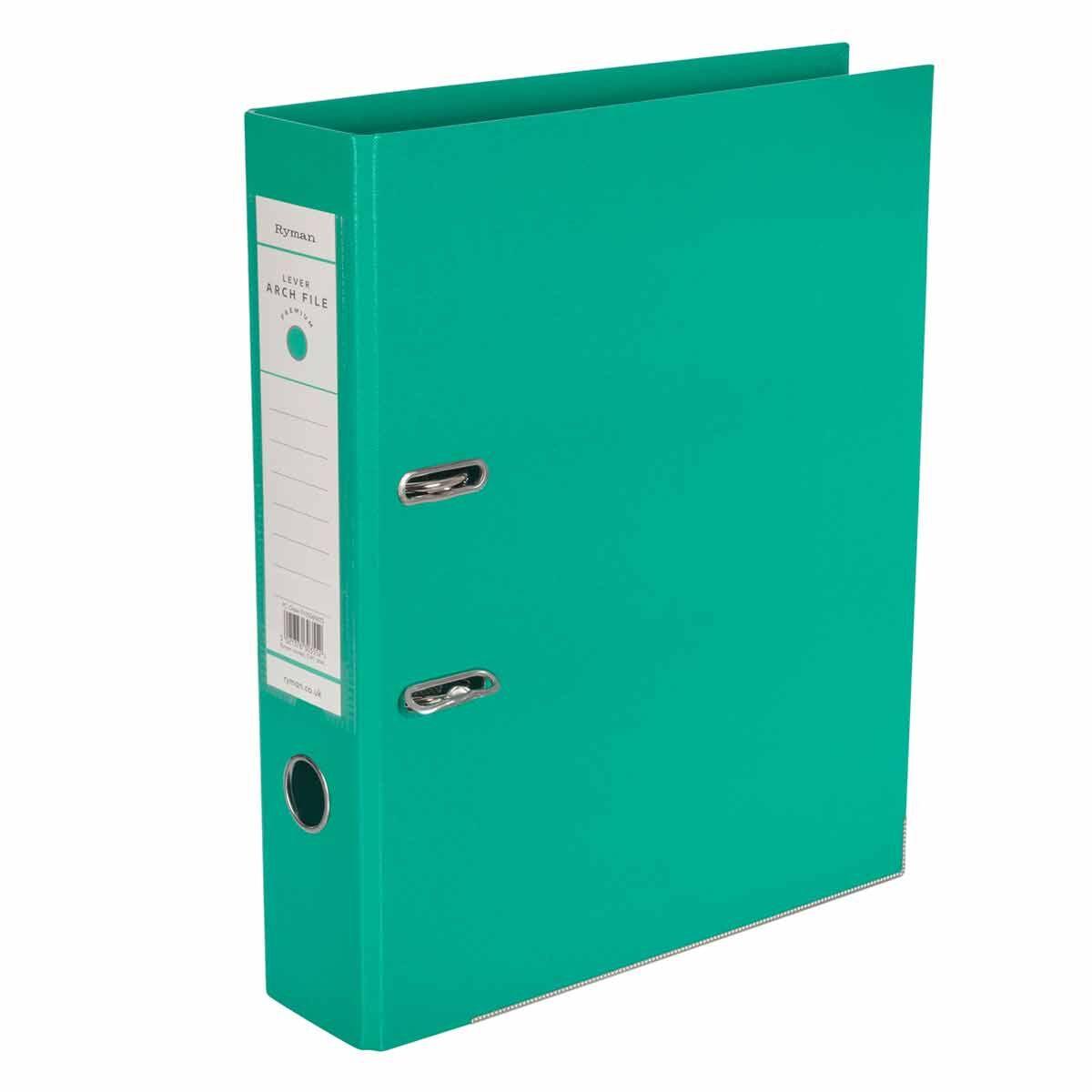 Ryman Premium Lever Arch File Foolscap Green