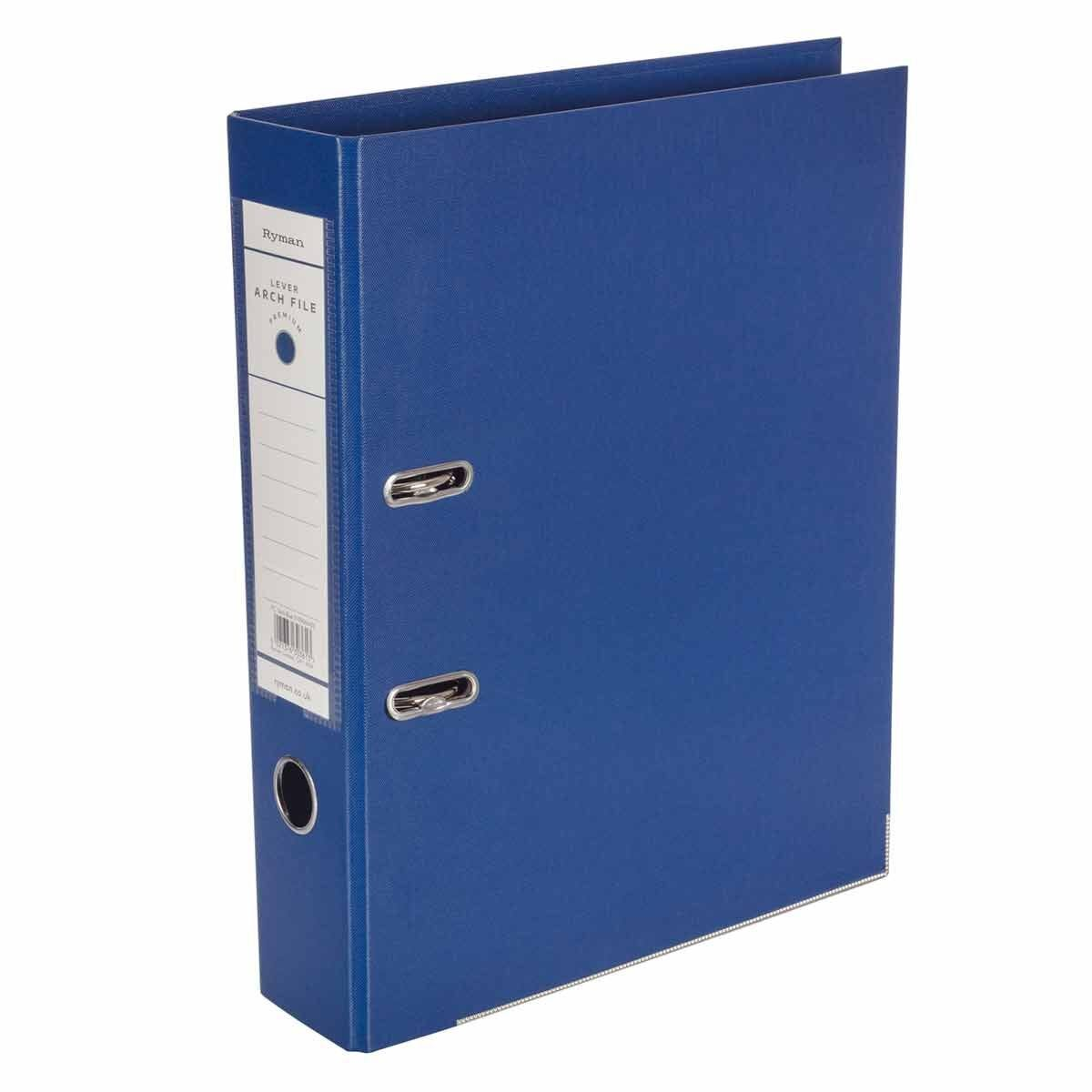 Ryman Premium Lever Arch File Foolscap Dark Blue