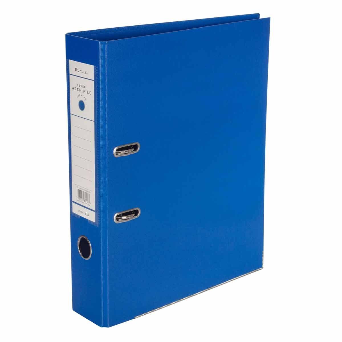 Ryman Premium Lever Arch File Foolscap Royal Blue