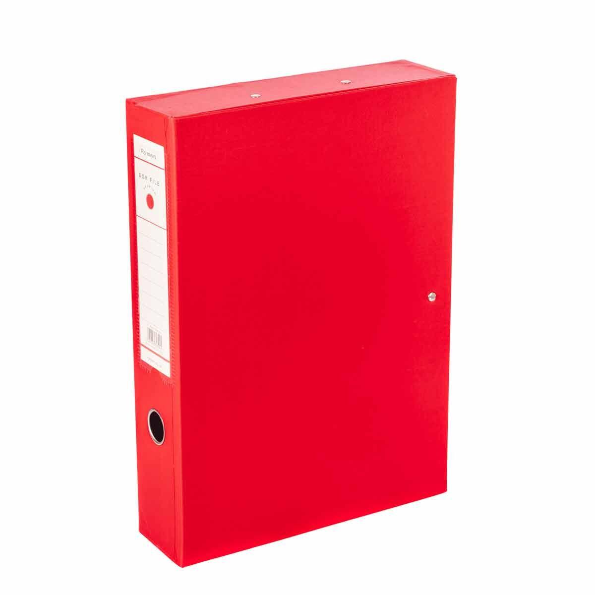 Ryman Premium Box File Foolscap Pack of 10 Red