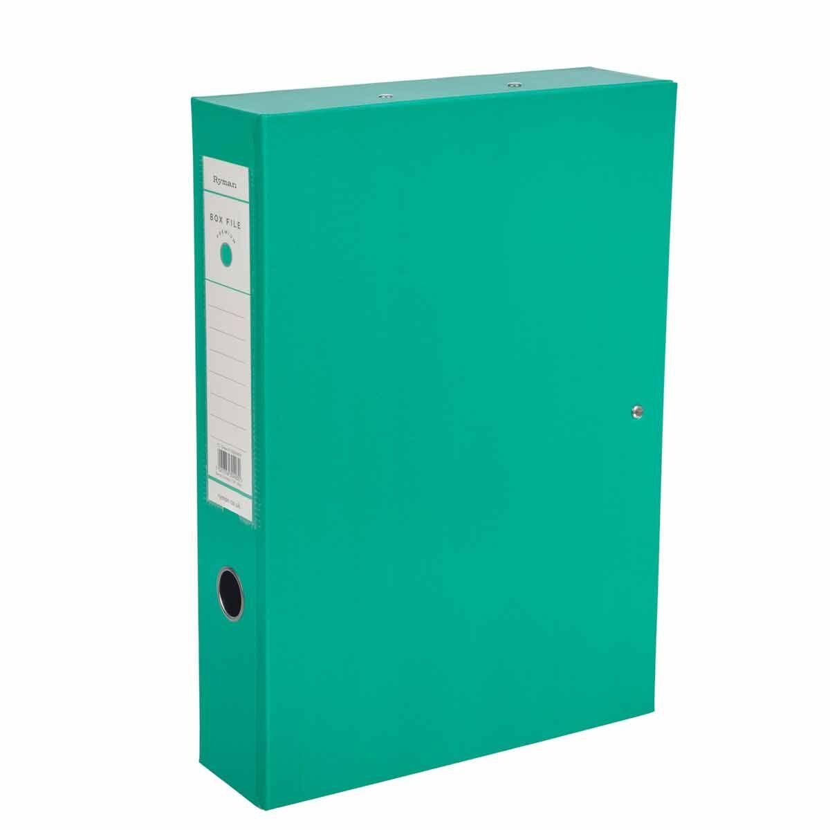 Ryman Premium Box File Foolscap Pack of 10 Green