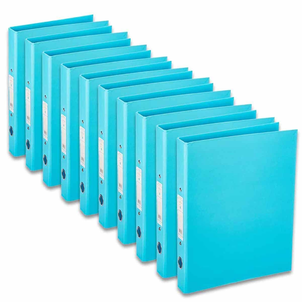 Ryman Premium Ring Binder A4 Pack of 10 Sky Blue