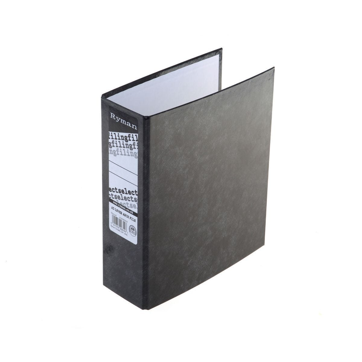 Ryman Select Lever Arch File A5 Charcoal