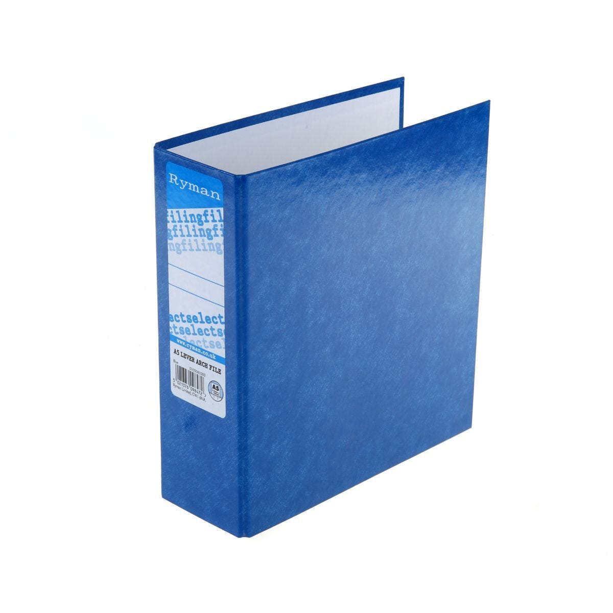 Ryman Select Lever Arch File A5 Blue