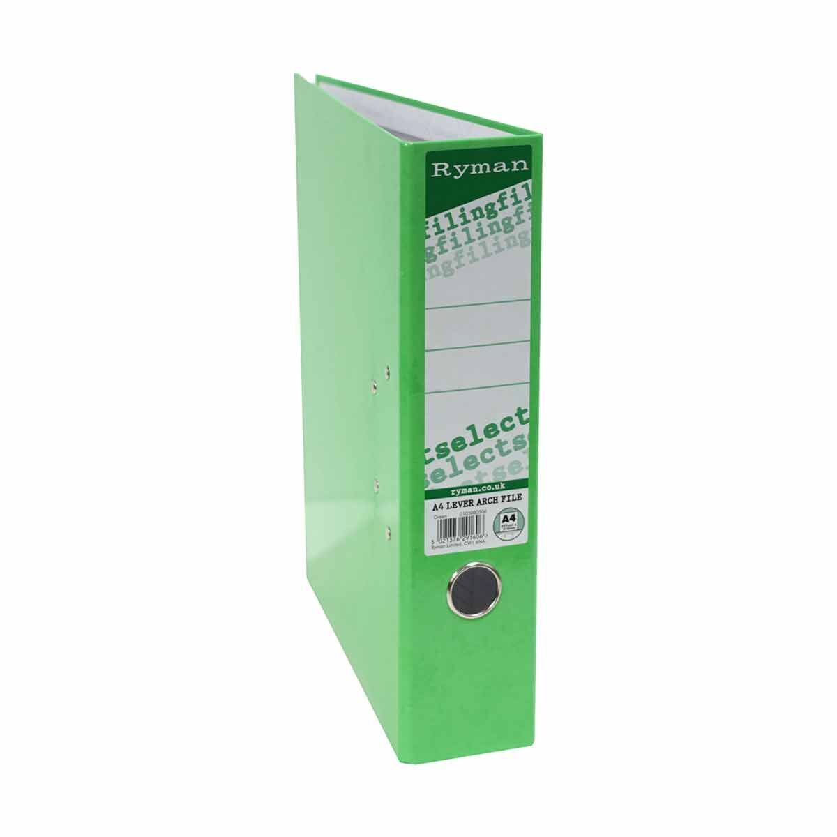Ryman Select A4 Lever Arch File Green