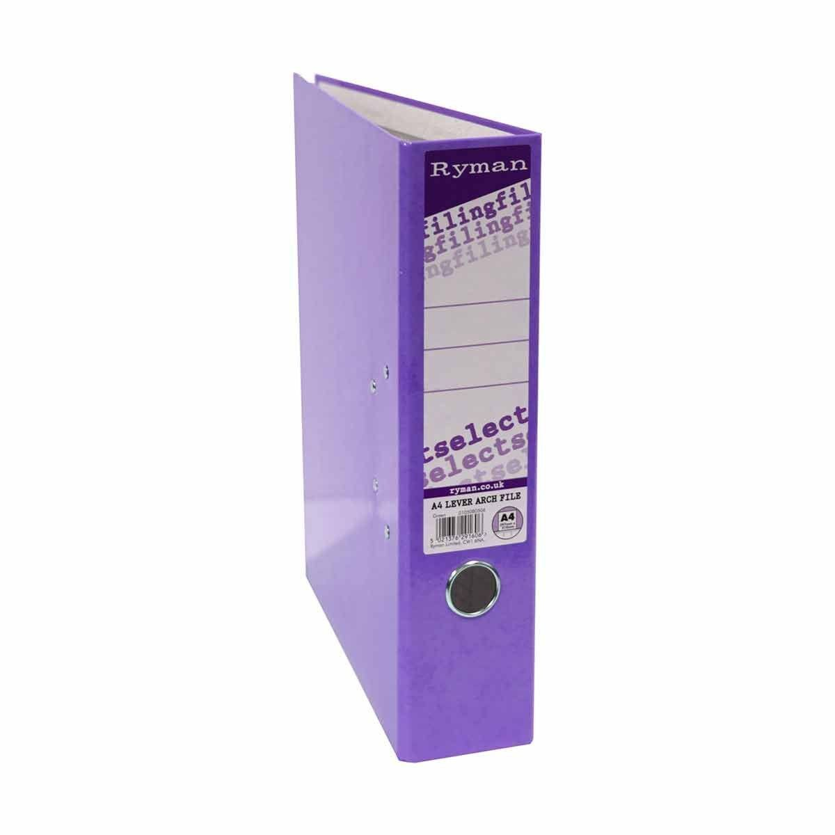 Ryman Select A4 Lever Arch File Purple