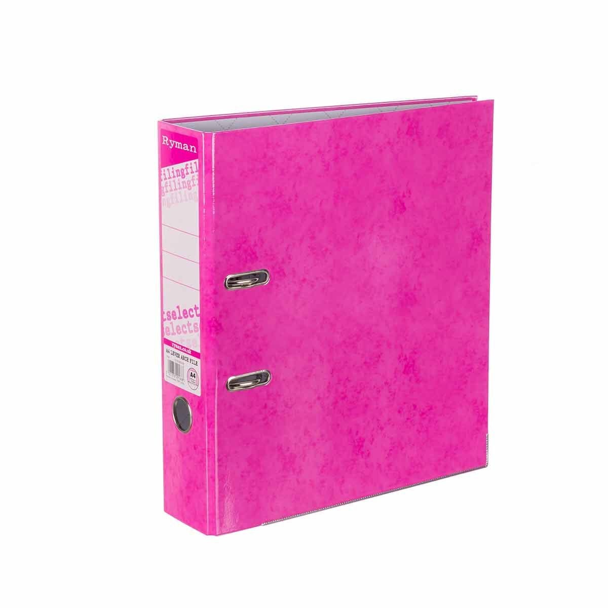 Ryman Select A4 Lever Arch File Pink