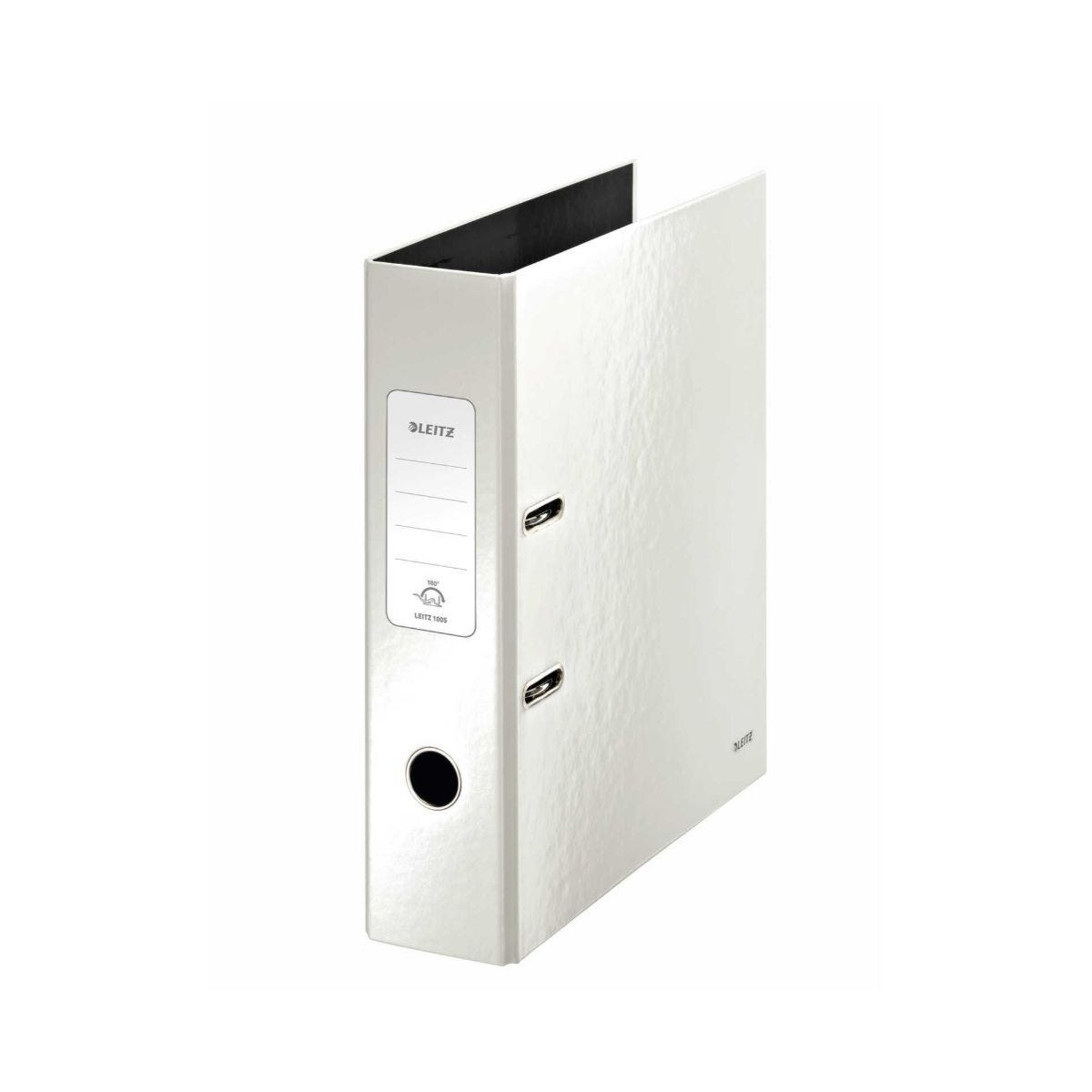 Leitz 180 WOW Laminated A4 Lever Arch File Pearl White