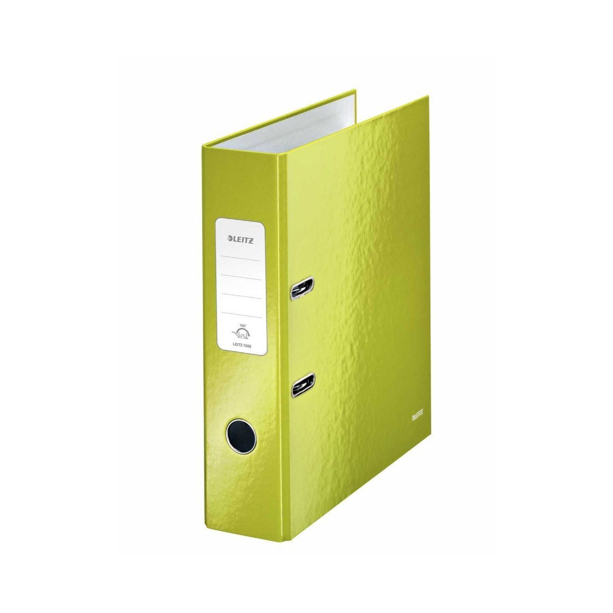 Leitz 180 WOW Laminated A4 Lever Arch File Green