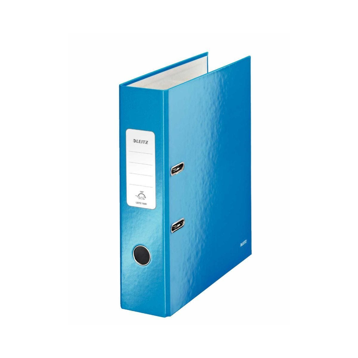 Leitz 180 WOW Laminated A4 Lever Arch File Blue