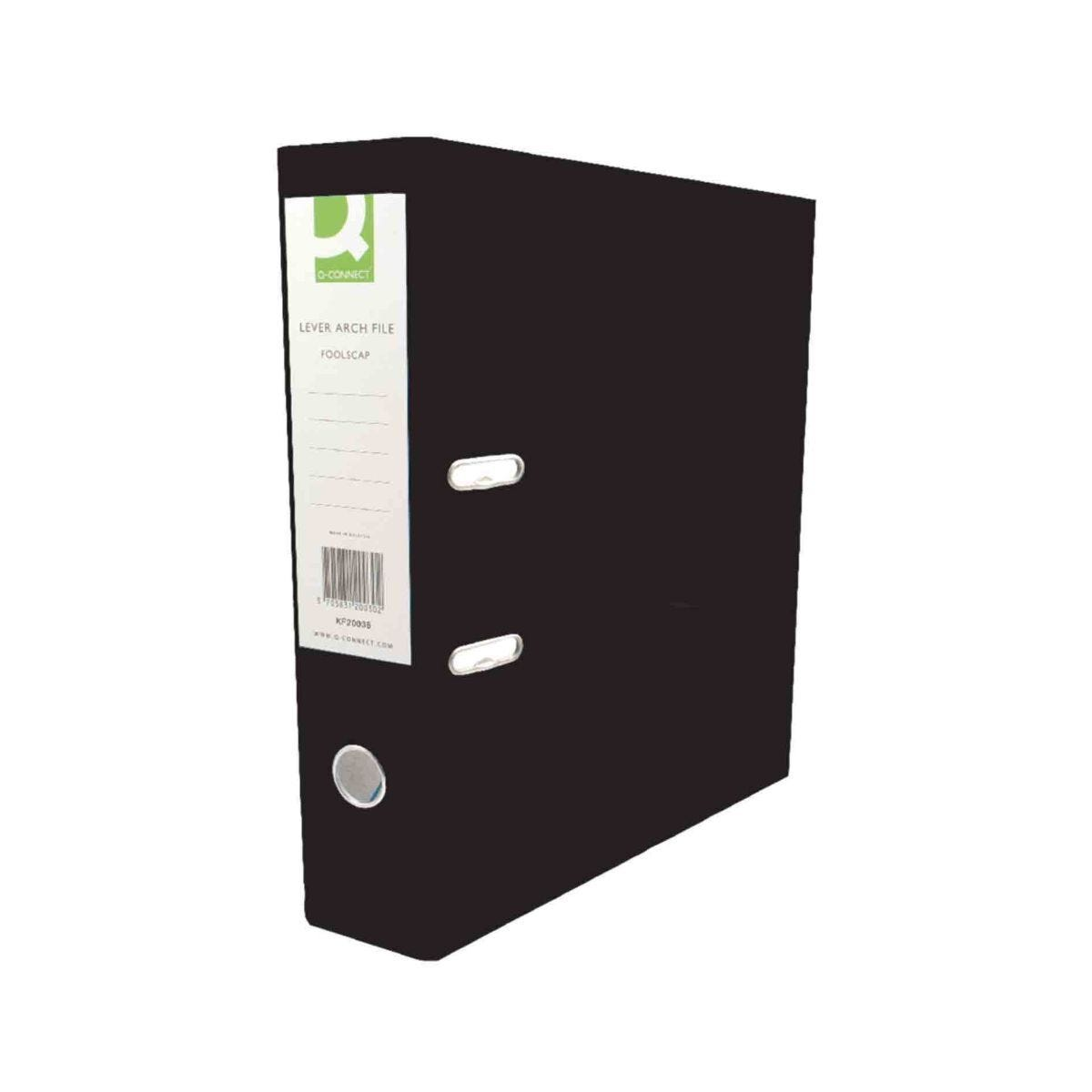 Q-Connect Polypropylene A4 Lever Arch File Pack of 10 Black