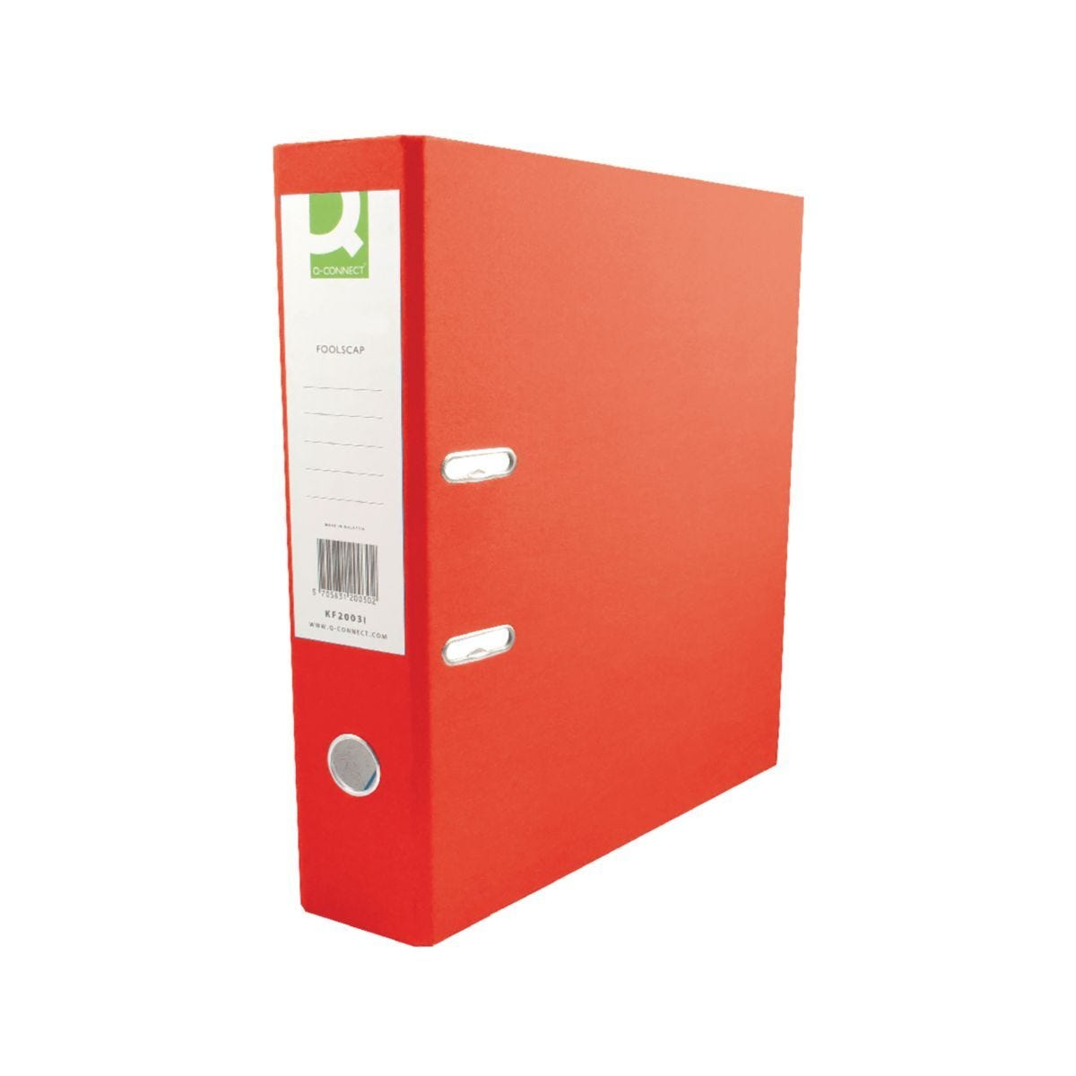 Q-Connect Polypropylene A4 Lever Arch File Pack of 10 Red