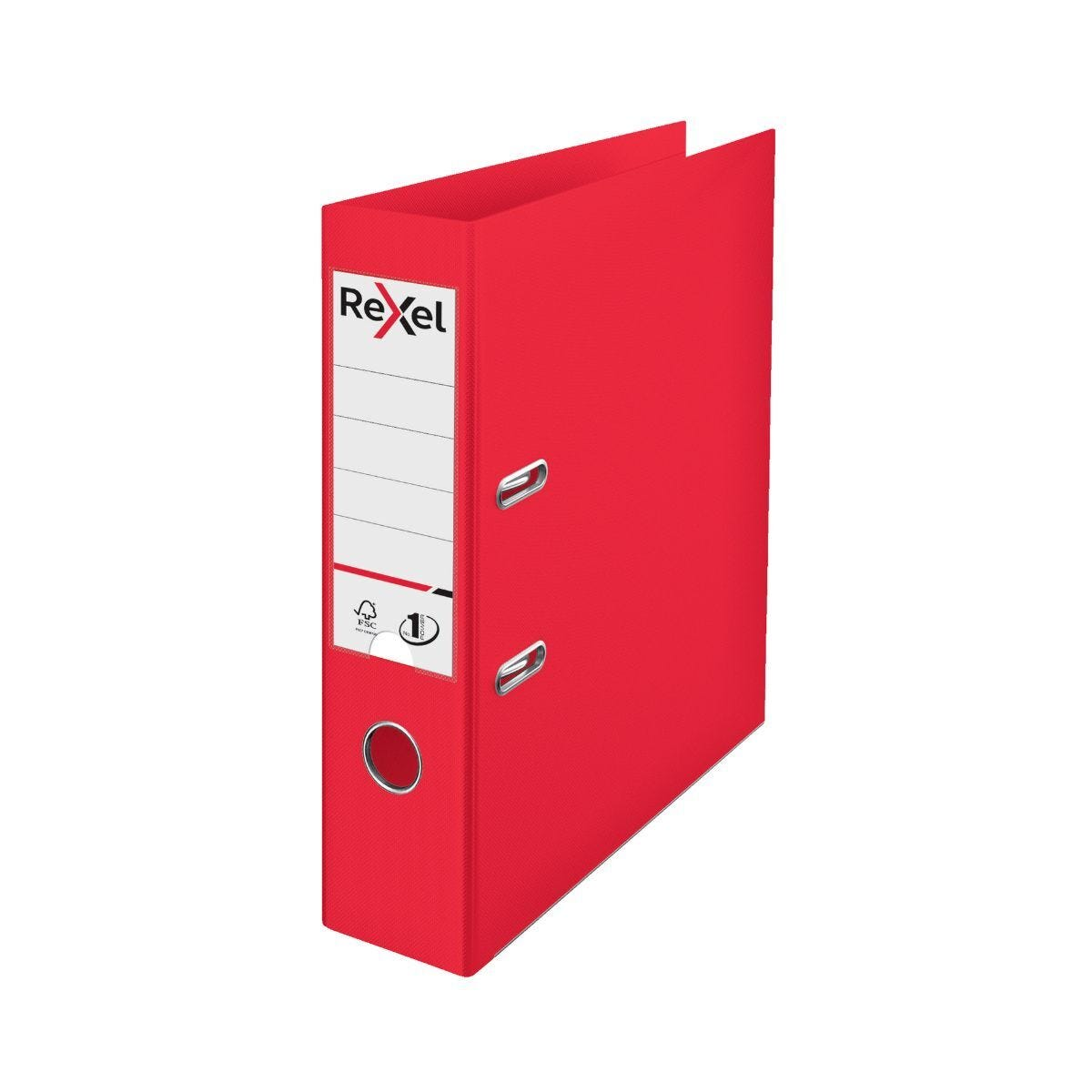 Rexel Choices Pack of 10 Polypropylene Lever Arch File A4 Red
