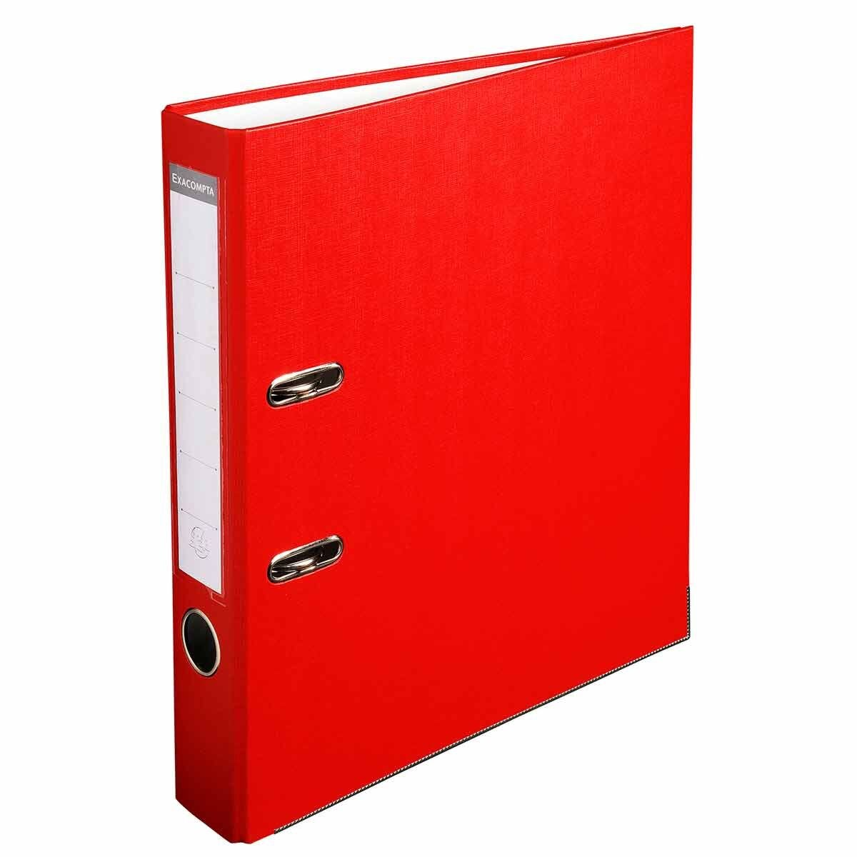 Exacompta Lever Arch File A4 PP 50mm Pack of 20 Red