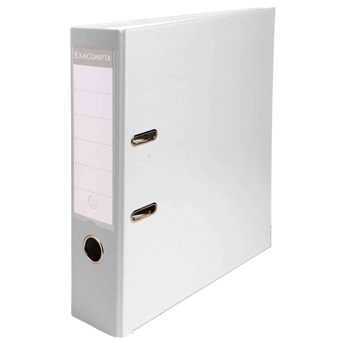 Exacompta Lever Arch File A4 80mm Pack of 20 White