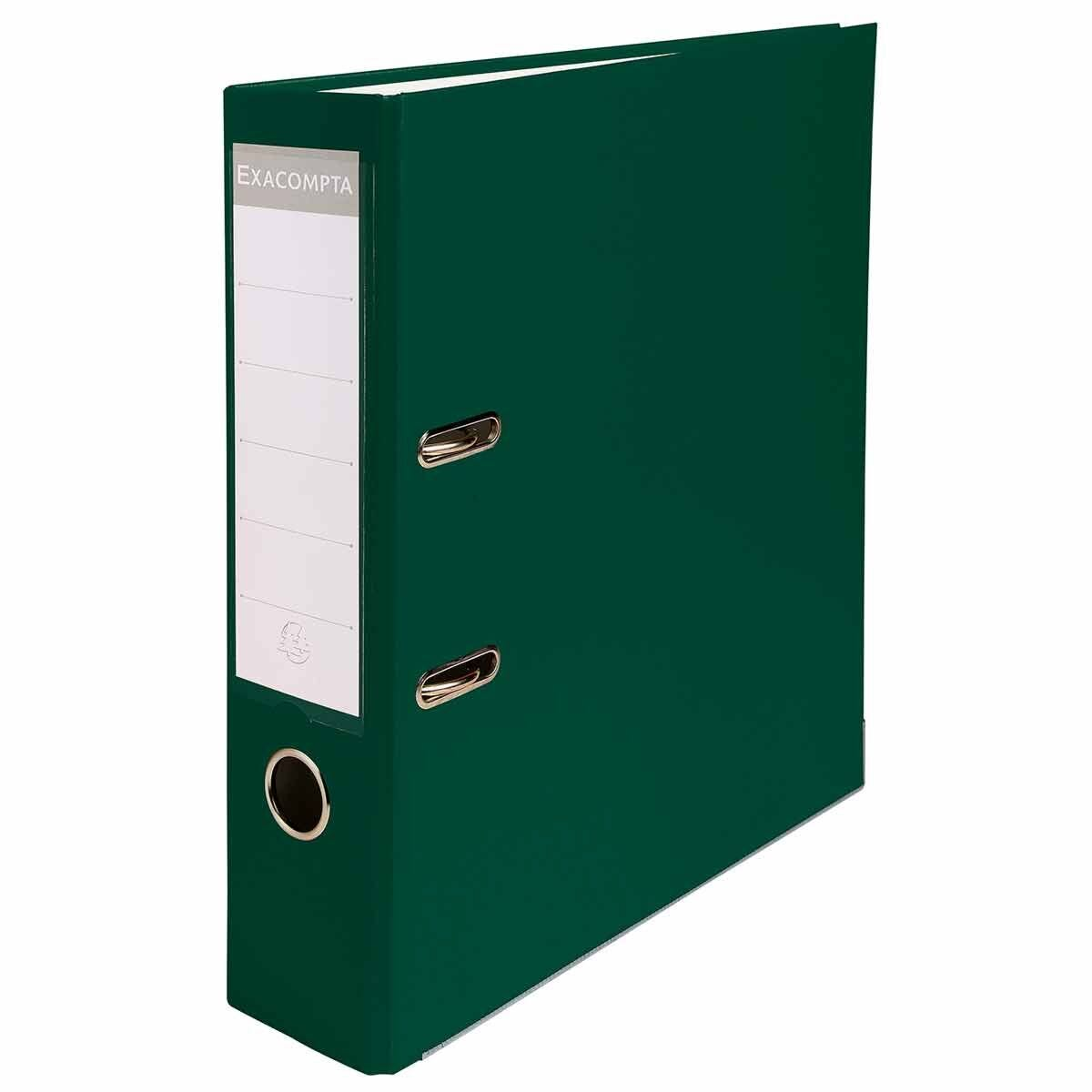 Exacompta Lever Arch File A4 80mm Pack of 20 Green