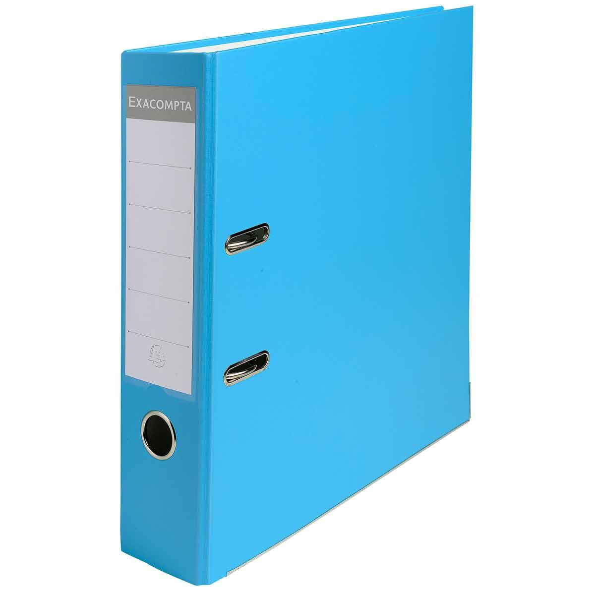 Exacompta Lever Arch File A4 80mm Pack of 20 Light Blue